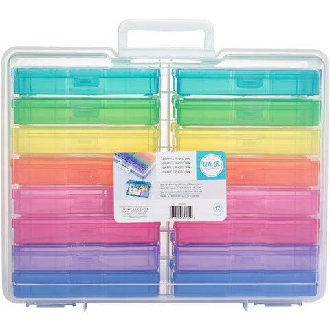 "We R Craft & Photo Translucent Plastic Storage 15""X12""X5"""