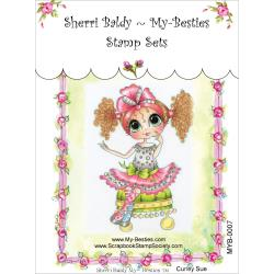 "My Besties Clear Stamps 4""X 6"" Curly Sue - MYB-0007"