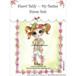 "My Besties Clear Stamps 4""X 6"" Messy Jessy Olivia Odd Socks - MYB-0014"