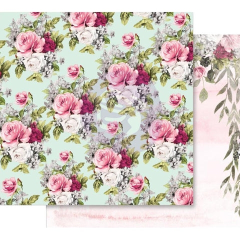 "Misty Rose Foiled Double-Sided Cardstock 12""X12"" - Flowers For Her"