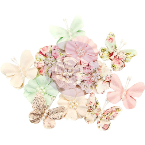Misty Rose Mulberry Paper Flowers 12/Pkg - Dacey