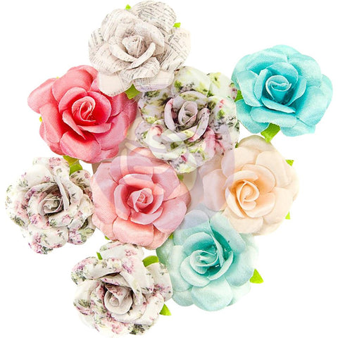Misty Rose Fabric Flowers 8/Pkg - Fatima