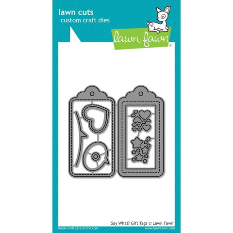 Lawn Cuts Custom Craft Die - Say What? Gift Tags