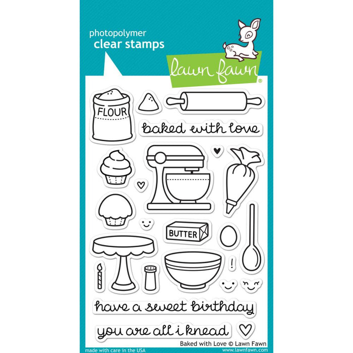 "Lawn Fawn Clear Stamps 4""X6"" - Baked With Love"
