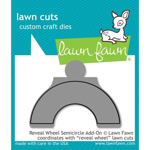 Lawn Cuts Custom Craft Die - Reveal Wheel Semicircle Add-On