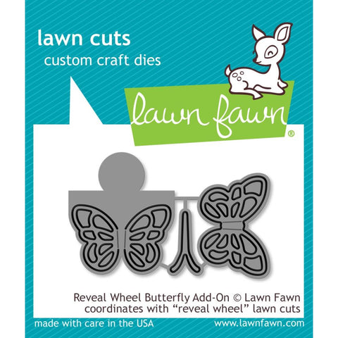 Lawn Cuts Custom Craft Die - Reveal Wheel Butterfly Add-On