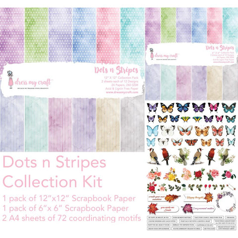 Dress My Crafts Collection Kit - Dots & Strips