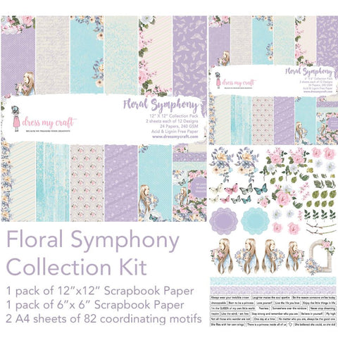 Dress My Crafts Collection Kit - Floral Symphony