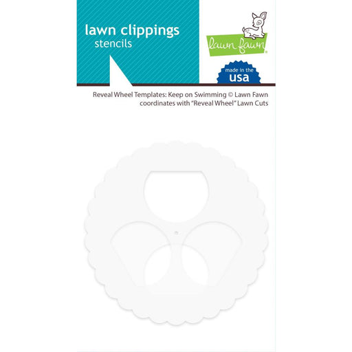 Lawn Clippings Stencils - Reveal Wheel: Keep On Swimming