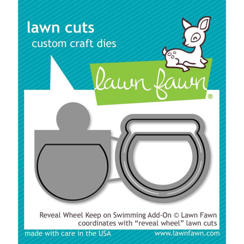 Lawn Cuts Custom Craft Die - Reveal Wheel: Keep On Swimming Add-On