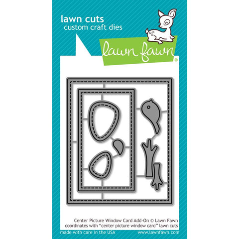 Lawn Cuts Custom Craft Die - Center Picture Window Card Add-On