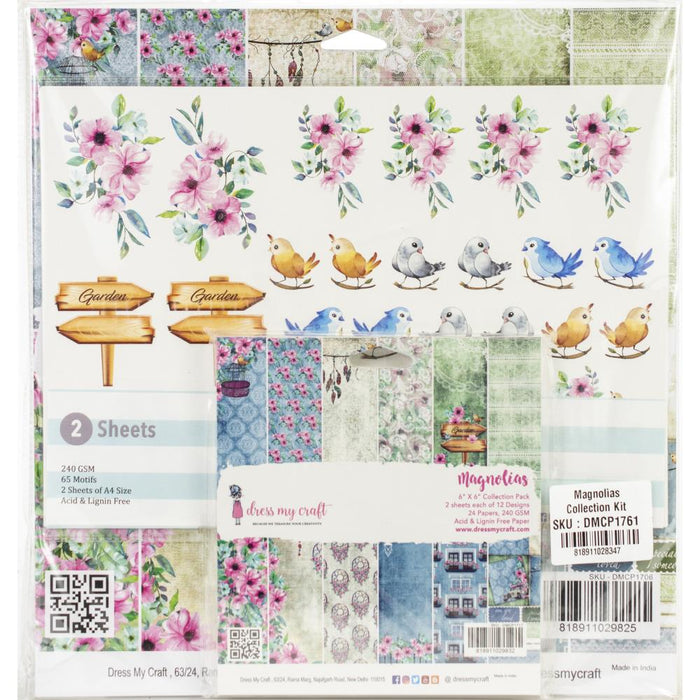 Dress My Crafts Collection Kit - Magnolias