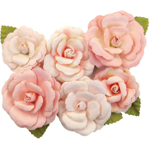 Prima Marketing Mulberry Paper Flowers - Nectarine/Apricot