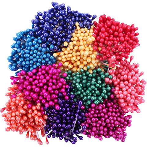 Heartfelt Creations Pearl Stamens Small 10/Pkg - Bright, 1mm X 2.25""