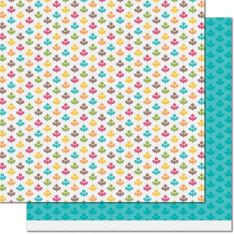 "Knit Picky Fall Double-Sided Cardstock 12""X12"""