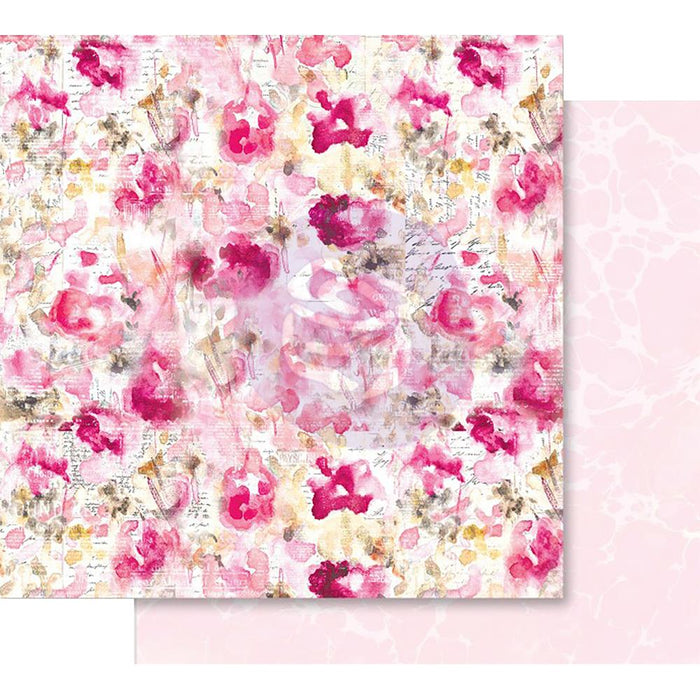"Prima Marketing Misty Rose Foiled Dbl-Sided Cardstock 12""X12 - Scattered Dreams"