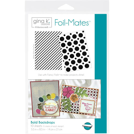"Gina K Designs Foil-Mates Background 5.5""X8.5"" 10/Pkg - Bold Backdrops ,2 Designs/5 Each"