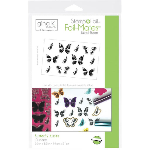 Gina K Designs StampnFoil Foil-Mates Detail Sheets 10/Pkg - Butterfly Kisses