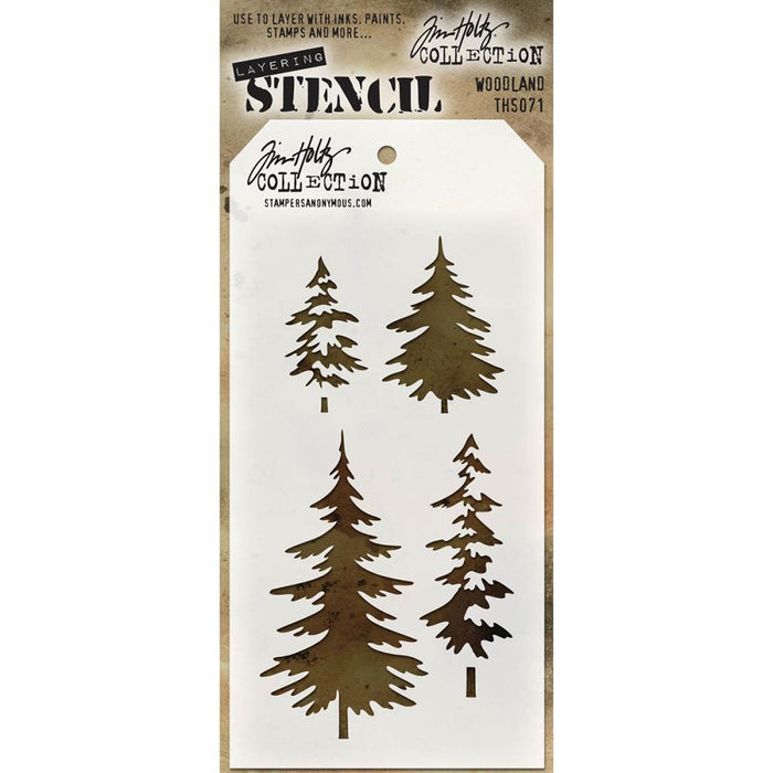 "Tim Holtz Layered Stencil 4.125""X8.5"" - Poinsettia"
