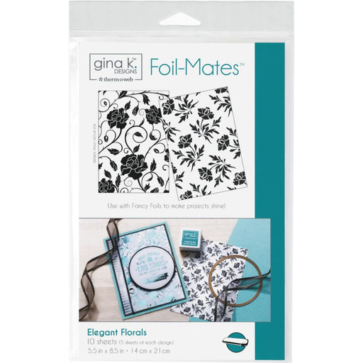 "Gina K Designs Foil-Mates Background 5.5""X8.5"" 10/Pkg - Elegant Florals"