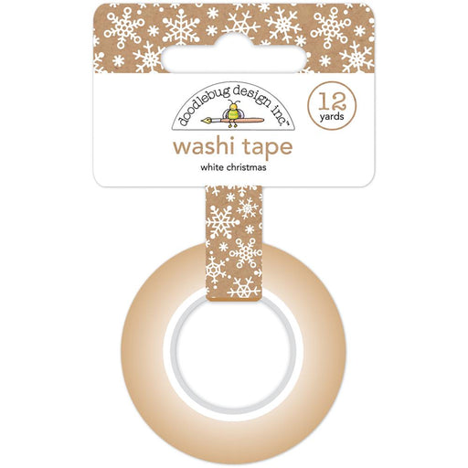 Doodlebug Washi Tape 15mmX12yd - White Christmas