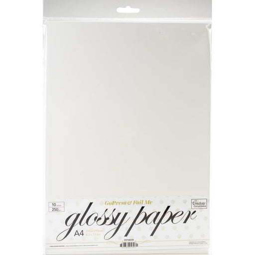 Couture Creations GoPress & Foil Glossy A4 Paper 10/Pkg