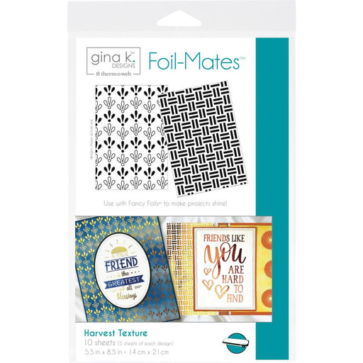 "Gina K Designs Foil-Mates Background 5.5""X8.5"" 10/Pkg - Harvest Texture"