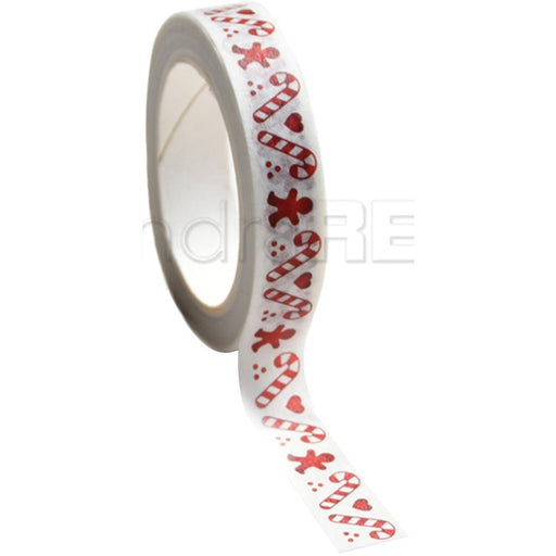 Alexandra Renke Washi Tape 10mmX10m - Candy Cane, Red Christmas
