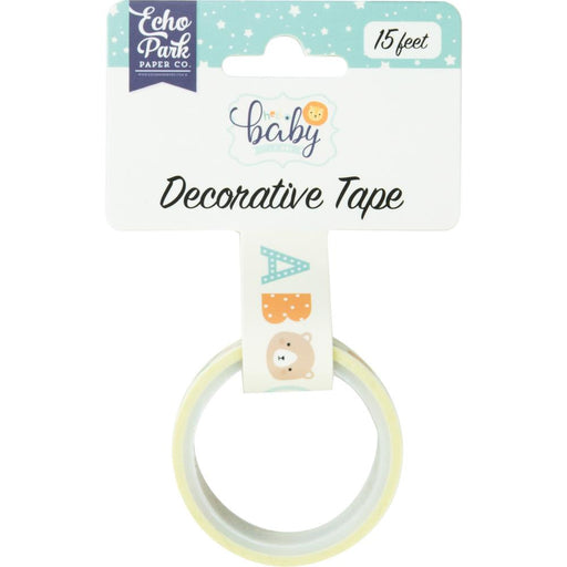 Echo Park Hello Baby Boy Decorative Tape 15' - Baby Boy Alphabet