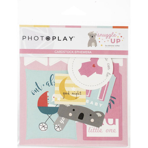 Snuggle Up Girl Ephemera Cardstock Die-Cuts