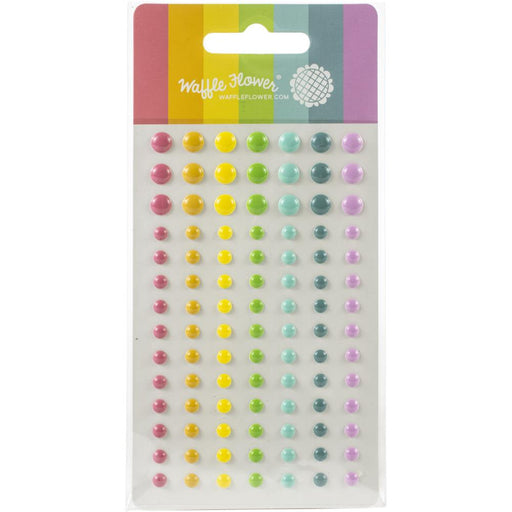 Waffle Flower Crafts Enamel Dots - Up & Running Multicolor