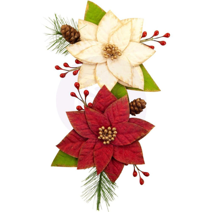 Prima Marketing Mulberry Paper Flowers - Sleigh Ride/Christmas In The Country