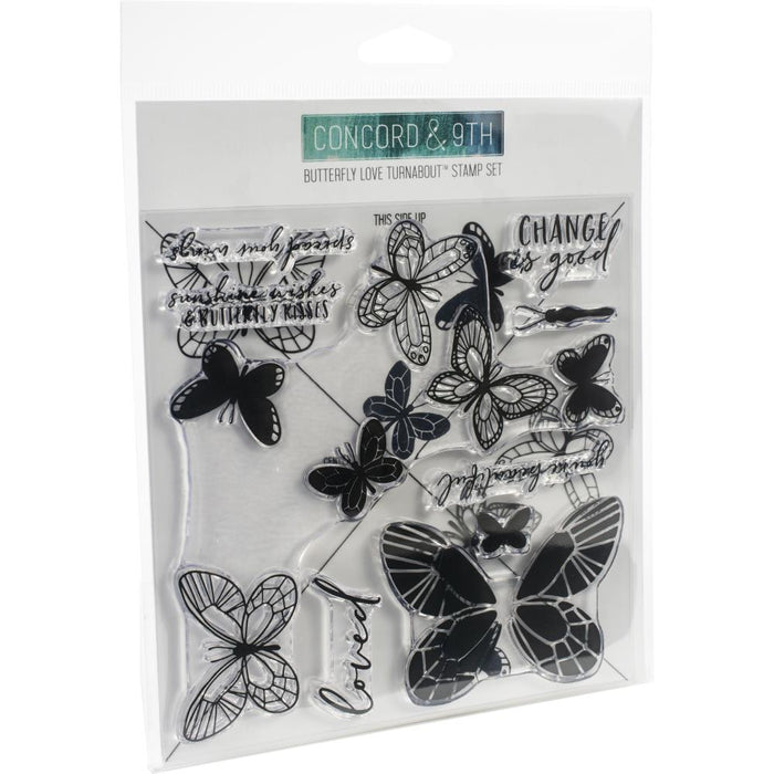 "Concord & 9th Clear Stamps 6""X6"" - Butterfly Love Turnabout"