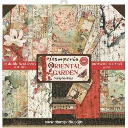 "Stamperia Double-Sided Paper Pad 12""X12"" 10/Pkg Oriental Garden, 10 Designs/1 Each"