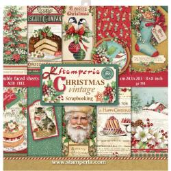 "Stamperia Double-Sided Paper Pad 8""X8"" 10/Pkg Christmas Vintage, 10 Designs/1 Each"
