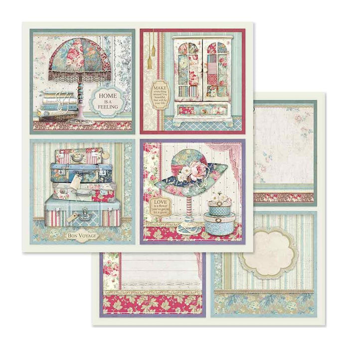 "Stamperia Double-Sided Cardstock 12""X12"" 4 Frame Decorations"