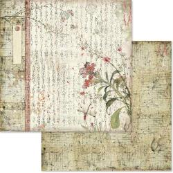 "Stamperia Double-Sided Cardstock 12""X12"" Oriental Poems"