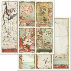 """Stamperia Double-Sided Cardstock 12""""X12"""" Oriental Paintings"""