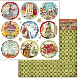 "Stamperia Double-Sided Cardstock 12""X12"" Christmas Rounds"