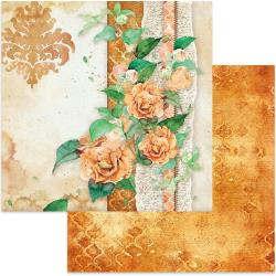 "Stamperia Double-Sided Cardstock 12""X12"" Flowers For You On Ocher Background"