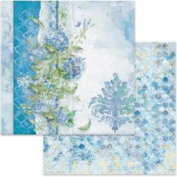 "Stamperia Double-Sided Cardstock 12""X12"" Flowers For You On Light Blue Background"