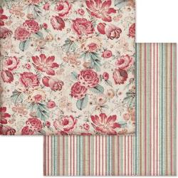 "Stamperia Double-Sided Cardstock 12""X12"" Roses Wallpaper"