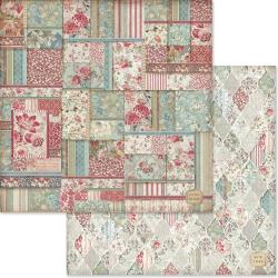 "Stamperia Double-Sided Cardstock 12""X12"" Patchwork Wallpaper"