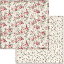 "Stamperia Double-Sided Cardstock 12""X12"" Rose Buds"