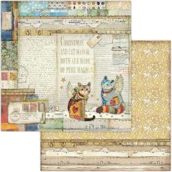 """Stamperia Double-Sided Cardstock 12""""X12"""" Cats"""