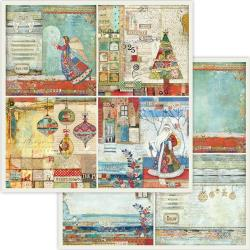 "Stamperia Double-Sided Cardstock 12""X12"" 4 Frames Christmas"