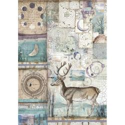 Stamperia Rice Paper Sheet A4 Cosmos Deer