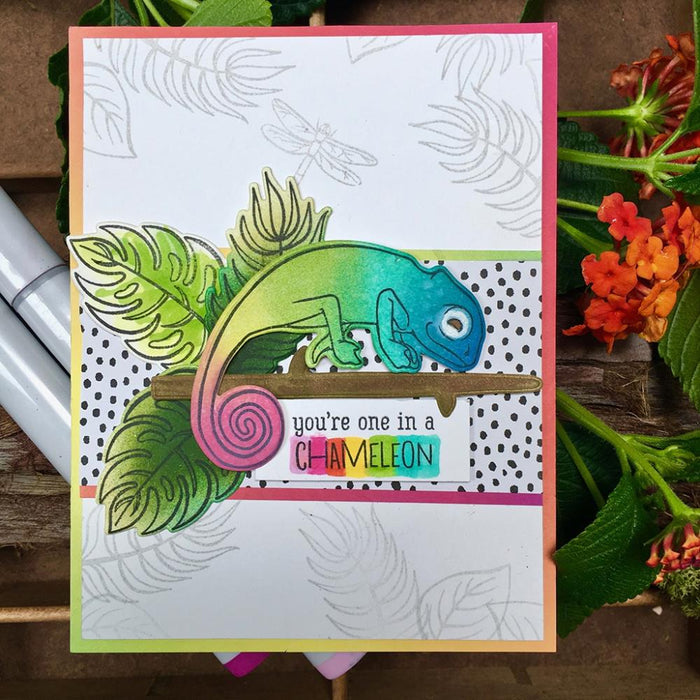 "Hero Arts Clear Stamps 4""X6"" - Tropical Flowers"