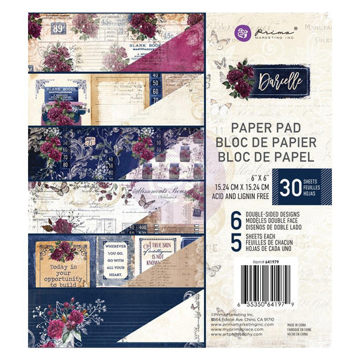 "Prima Marketing Double-Sided Paper Pad 6""X6"" 30/Pkg - Darcelle, 6 Designs/5 Each"