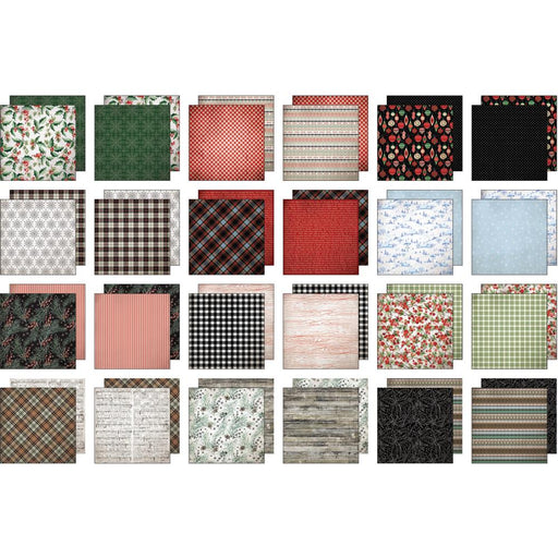 "Idea-Ology Paper Stash Double-Sided Paper Pad 8""X8"" 24/Pkg - Christmas, 12 Designs/2 Each"